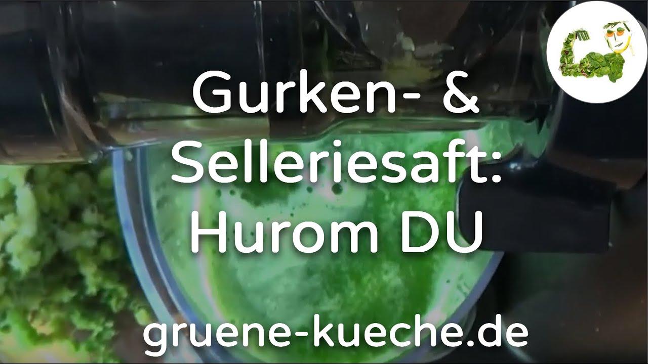 Hurom DU Slow Juicer Staudensellerie und Gurken entsaften (Teil 26)