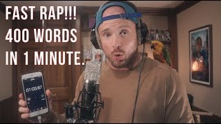 FAST RAP 400 Words In 1 Minute