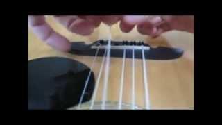 How to make dental floss guitar strings