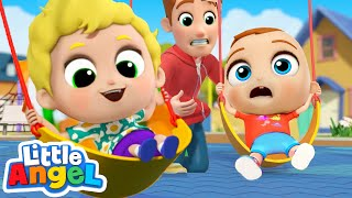 Play Safe At The Playground | Little Angel Kids Songs & Nursery Rhymes