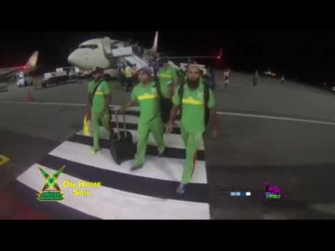 The Arrival Of The Guyana Amazon Warriors Home #CPL 2015