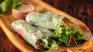 Vietnamese Vegetable Spring Rolls with Orange Almond Sauce Recipe