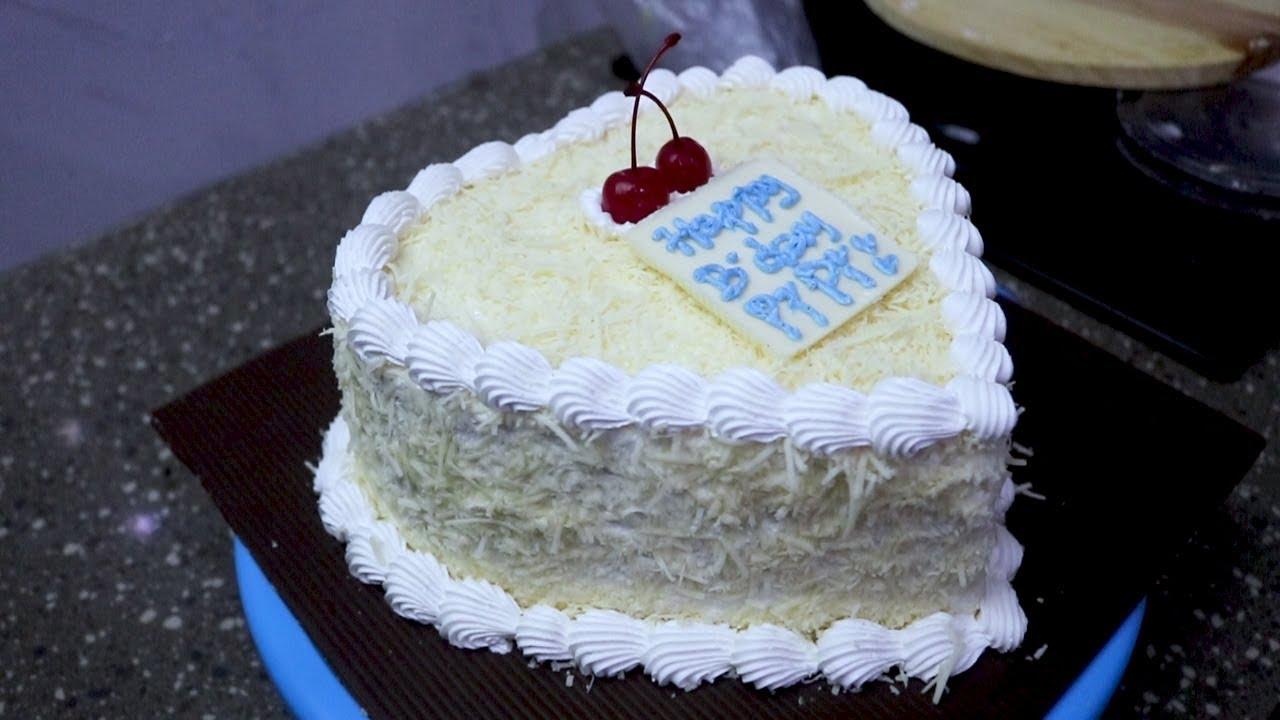 Kue Ulang Tahun Mudah Dan Simpel Hanya Topping Keju