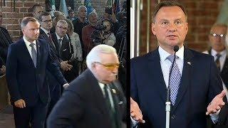 Wałęsa uciekł z kościoła przed mocnymi słowami Prezydenta Andrzeja Dudy