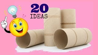 20 IDEAS con rollos de papel higiénico/The best out waste