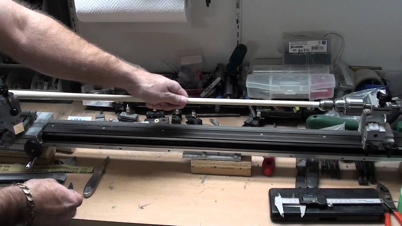 Cleaning A Predator Shaft Using A Cue Lathe Youtube