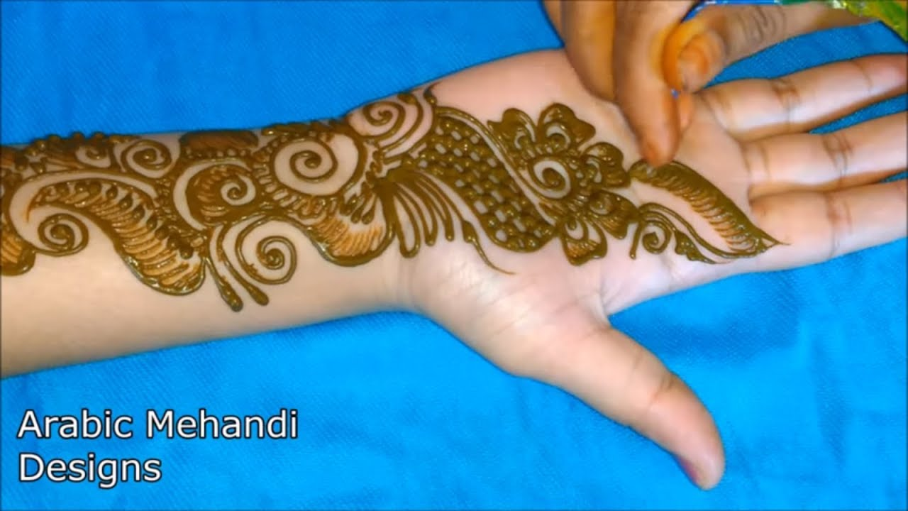Simple Arabic Mehandi Bridal Mehndi Designs For Hands Full