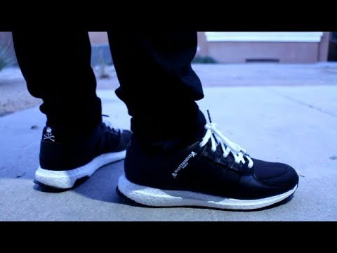 buy popular 33fb7 499a4 ADIDAS X MASTERMIND EQT REVIEW AND ON FOOT!!!
