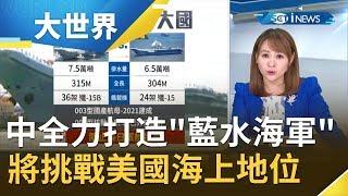 中美軍事實力競爭!中國首艘
