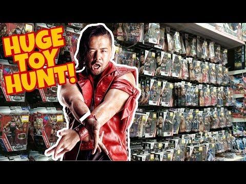 🚨 HUGE TOY HUNT!!! 🚨 ELITE 57 FUN WITH SHINSUKE NAKAMURA!!! WWE Mattel Wrestling Action Figures