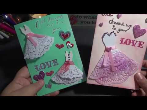 DIY Doilie Gown Valentine's Day Cards
