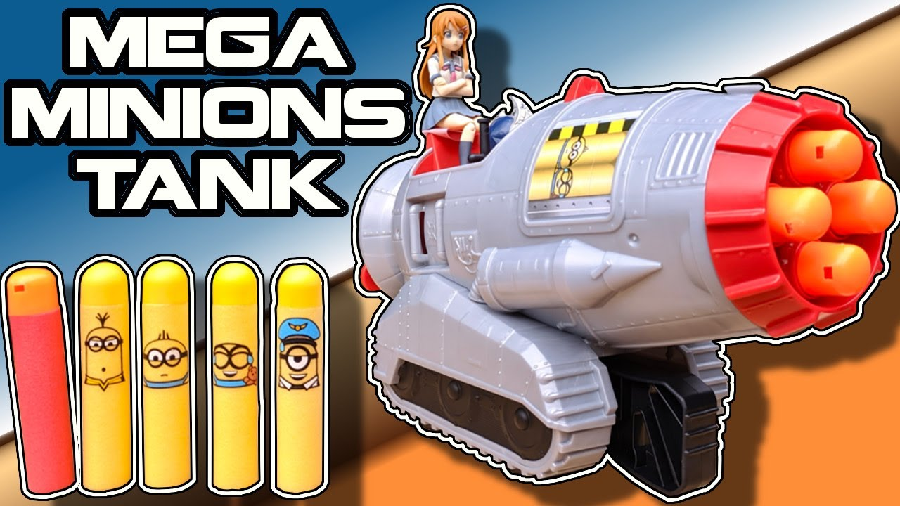'NERF' MEGA Shooting Minions Tank... What are we even doing?