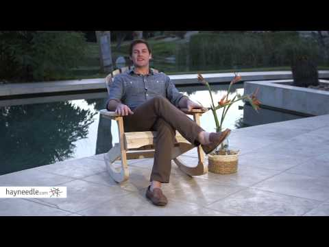 Coral Coast Outdoor Adirondack Rocking Chair - Product Review Video