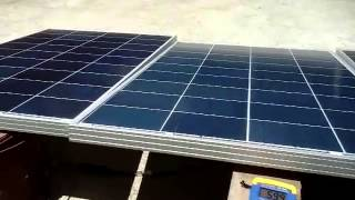 cdr king 100w solar panel test