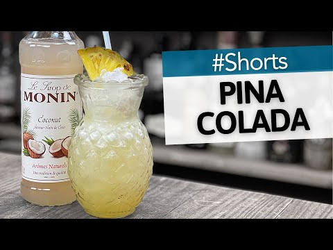 Pina Colada with Monin Coconut Syrup   Easy Cocktails to make at Home Bar   Drinkstuff #Shorts