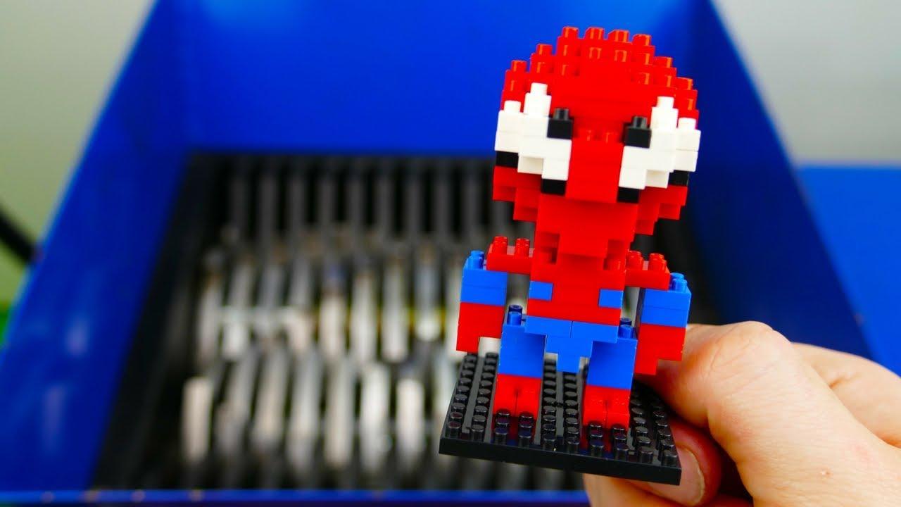 Shredding Block Spiderman Youtube