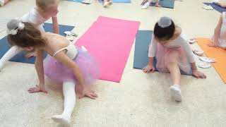 Урок балета  для детей. Растяжка. Продольный шпагат. Школа классического танца. ДК ЗИЛ