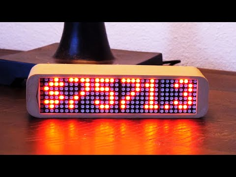 3D Printed Live Bitcoin Price Ticker