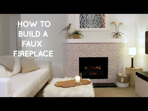 how to build a diy portable free standing faux fireplace home decor ideas youtube. Black Bedroom Furniture Sets. Home Design Ideas