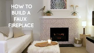 How To Build A Diy Portable Free Standing Faux Fireplace ( Home Decor Ideas)