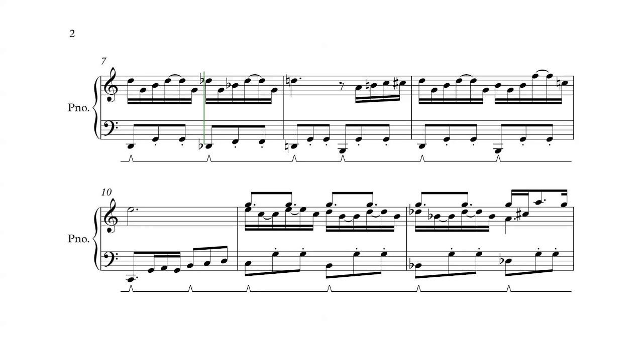 Super Mario Bros 2 Nes Title Theme Piano Sheet Music Youtube