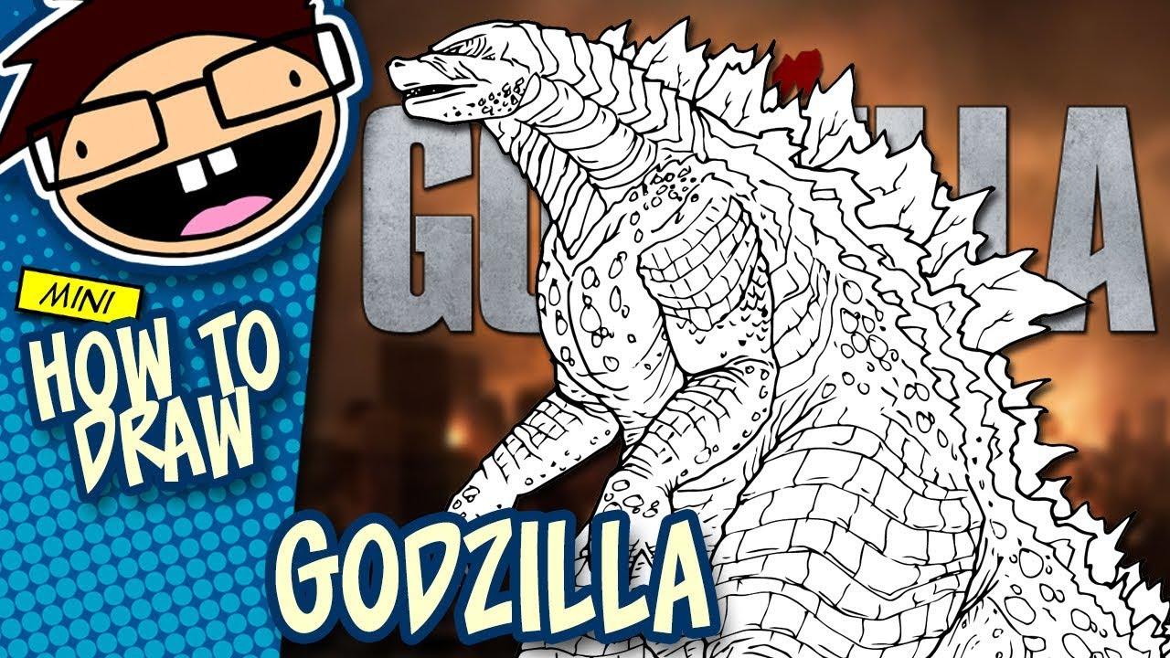 How To Draw GODZILLA Godzilla 2014 Movie