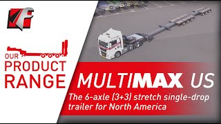 FAYMONVILLE MultiMAX US -  The 6-axle (3+3) stretch single-drop trailer for North America