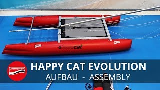 aufbau assembly happy cat evolution aufblasbarer sport katamaran