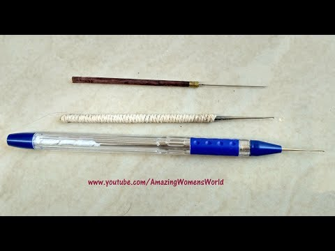 How to make Pen Aari Needle , binding Maggam needle / Know about Zardosi Needle