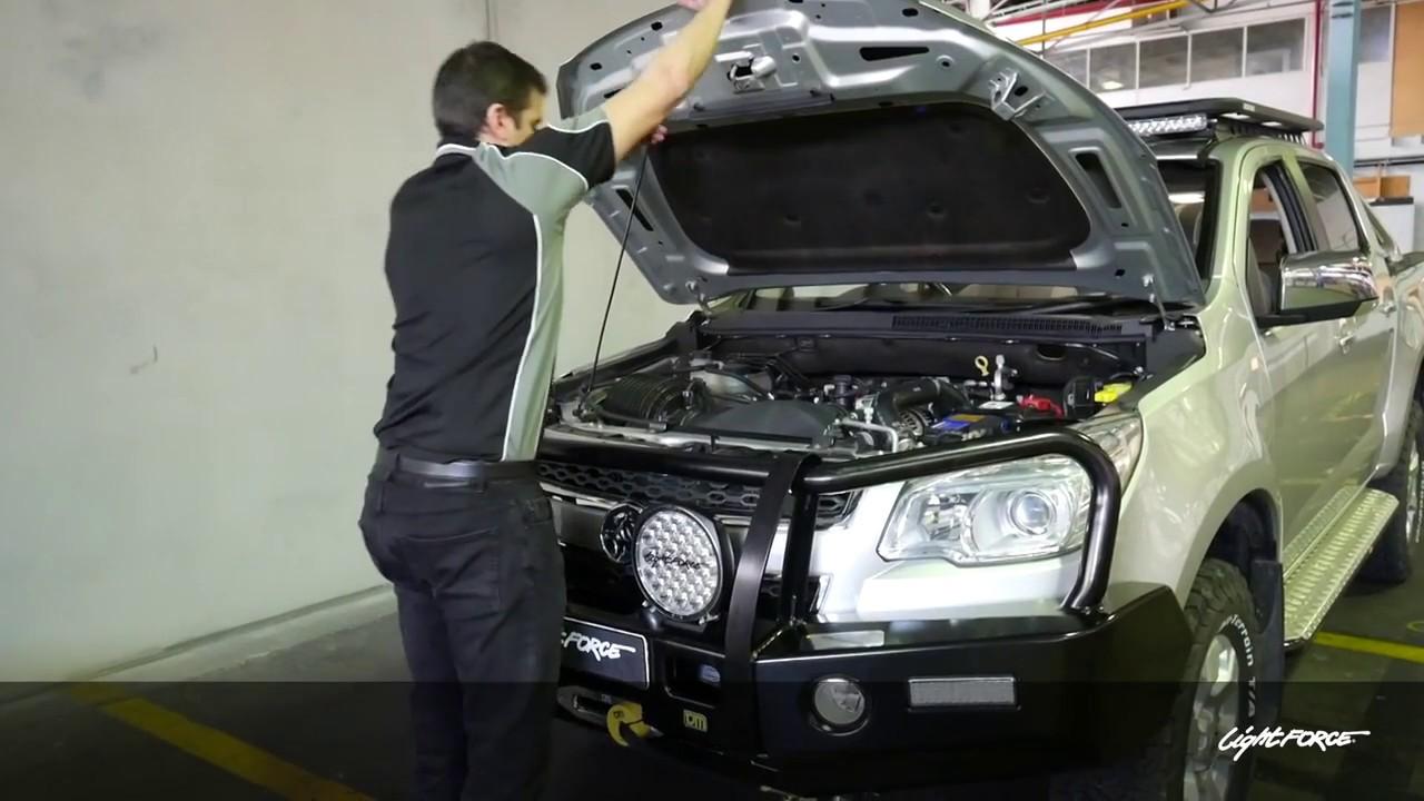 installation diy holden colorado with lightforce genesis led driving lights [ 1280 x 720 Pixel ]