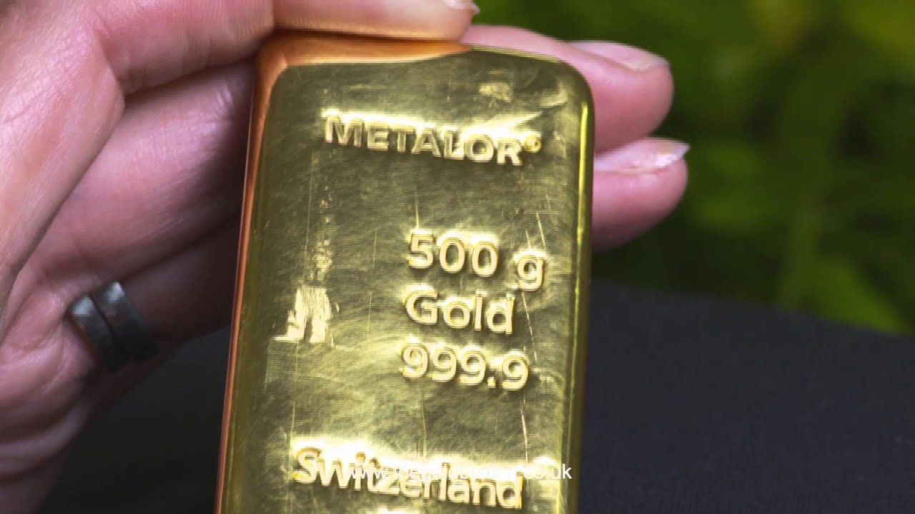 500 Gram Gold Bullion Bar Youtube