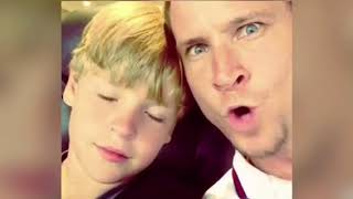 Brian and Baylee Littrell