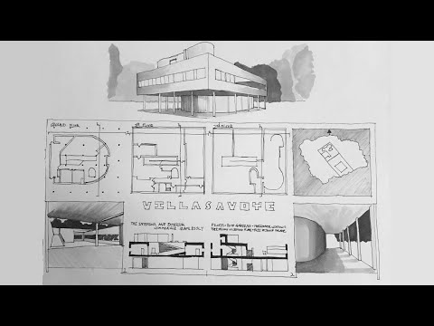 Villa Savoye Timelapse Drawing Youtube