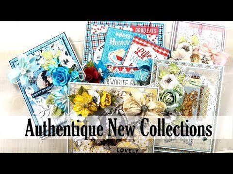 Authentique New Collections Project  Share Polly's Paper Studio Vintage Cards Scrapbooking tags