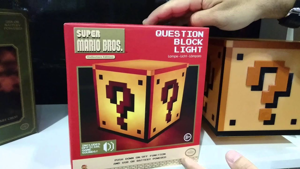 Great Super Mario Brothers Question Block Light With Sound Effect   New York Toy  Fair