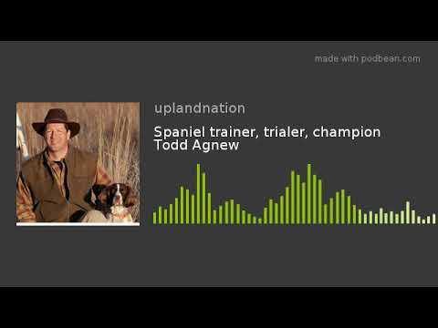 Spaniel trainer, trialer, champion Todd Agnew