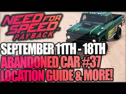 Need For Speed Payback Abandoned Car #37 - Location Guide + Gameplay - Holtzman Chevy C10!