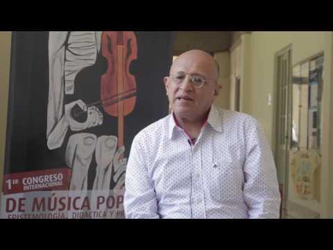 Carlos Freire Soria en el 1º congreso Internacional  de Música Popular