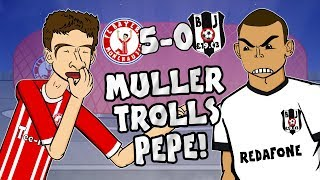 🤣MULLER TROLLS PEPE🤣 5-0! Bayern vs Besiktas (Champions League 2018 Parody Goals Highlights) thumbnail