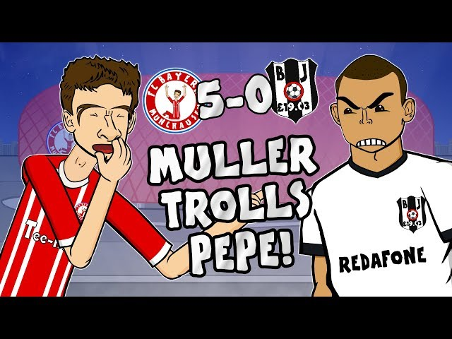 🤣MULLER TROLLS PEPE🤣 5-0! Bayern vs Besiktas (Champions League 2018 Parody Goals Highlights)