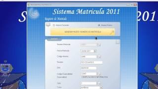 Sistema Matricua 2011 Visual Basic 2008 #1.avi