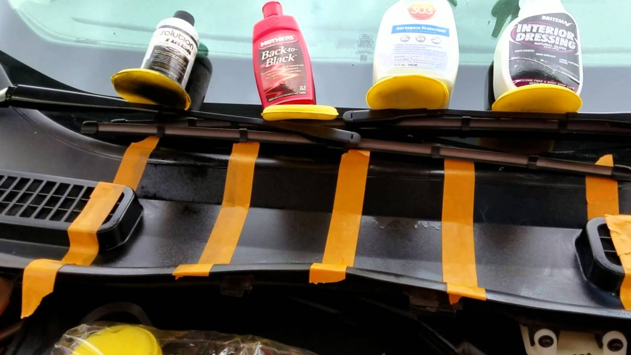 Trim restorer youtube Black interior car trim restorer