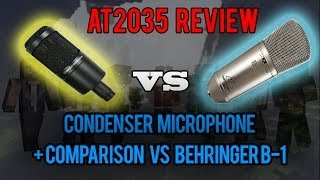 Audio-technica AT2035 Review and Comparison Vs Behringer B-1