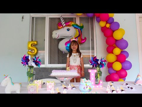 MINHA FESTA SURPRESA DE UNICÓRNIO - BIRTHDAY SURPRISE PARTY UNICORN VIDEO - FOR CHILDREN