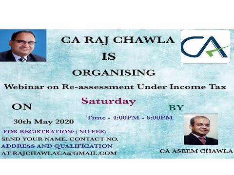 Webinar on Re-assesment Under Income Tax