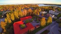 Espoo Espoonlahti, Maininki ja Laurinlahti alueesta ilmakuvaa