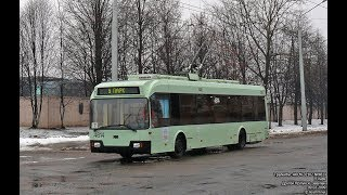 Троллейбус Минска БКМ-321,борт. 4614 , марш.44 17.02.2019