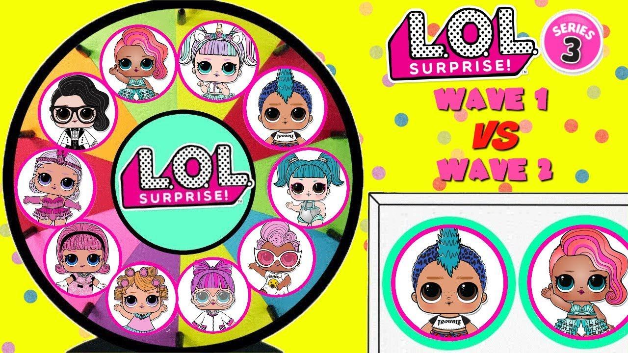 LOL SURPRISE Series 3 Wave 1 VS Wave 2 Spinning Wheel Game Toy Surprises