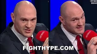 (BOMBSHELL!!!) TYSON FURY SIGNS WITH ESPN/TOP RANK; CALLS WILDER