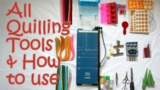 14 Quilling Tools Demo & How to Use Basic Quilling Tools | Tutorial